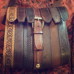 Unique purse made out of Leather Belts